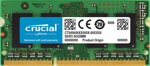 Memória Crucial 8GB 1600Mhz DDR3 p/ Notebook CL11 - CT102464BF