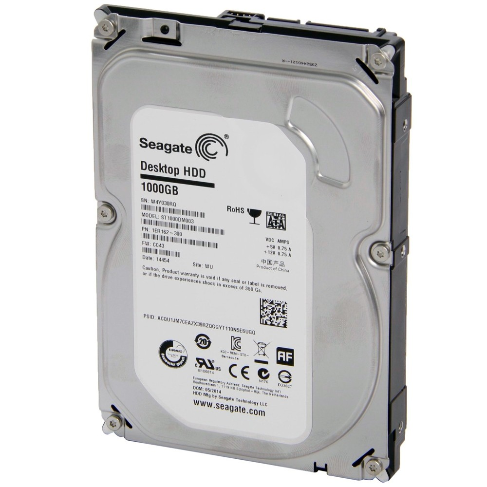 HD 1TB (1000GB) Seagate Sata 3 - 64 MB 7200RPM