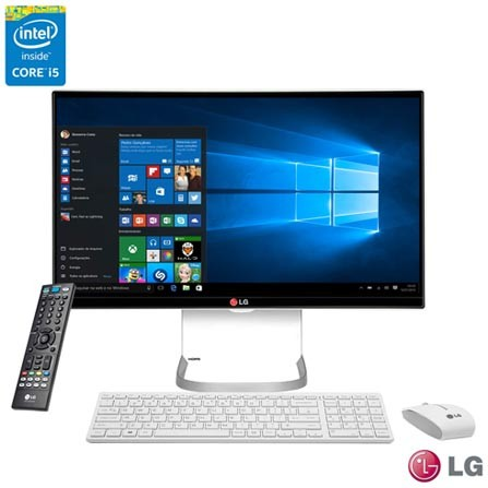 "Computador All-In-One LG, Intel® Core™ i5 -5200U, 8GB, 1TB, 23.8"" - 24V550-G.BJ33P1 + Microsoft Office 365 Personal"