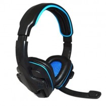 Fone Headset Gamer Knup KP-357 USB Blue