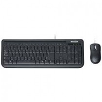 Teclado Microsoft Multimídia + Mouse Basic Óptico Wired Desktop 400 Black