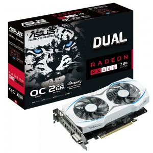 Placa de vídeo VGA ASUS AMD RX460 Overclock Edition,2Gb GDDR5, 128-Bits