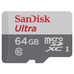 Cartão de Memória Sandisk Micro SD Ultra 64 GB